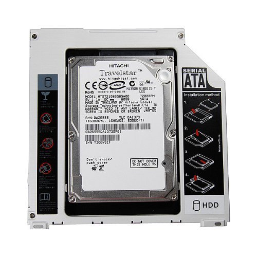 SATA 9.5mm 2nd Hard Disk Drive Caddy Adapter Special Designed For Apple macbook pro