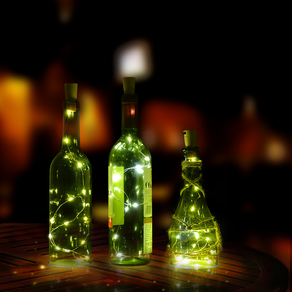 Cork shape lights, Bottle Mini String Lighting 75cm/30inch Copper Wire light Starry Light For Christmas Wedding and Party Halloween, decoration white color