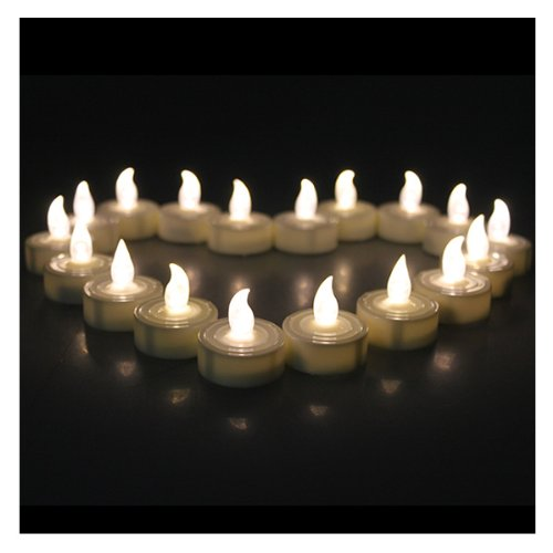 60 PCS Flameless Tea Lights, AGPtEK Battery Operated No flicker Steady LED Candles for Wedding Party Festival Decoration Occasions - Warm White