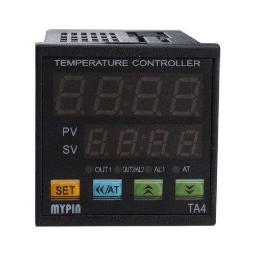 AGPtek Dual Digital F/C PID Temperature Control Controller TA4-SSR With 2 Alarms