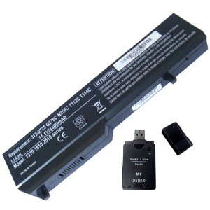 Battery Replacement for Dell Vostro 1310 Vostro 1510 with All-In-One Card Reader