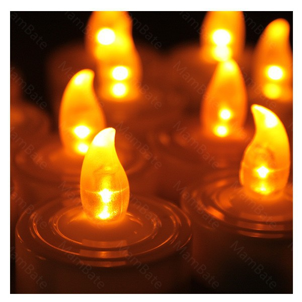 100pcs lot LED Smokeless flameless Flickering Battery Candles Tea Light