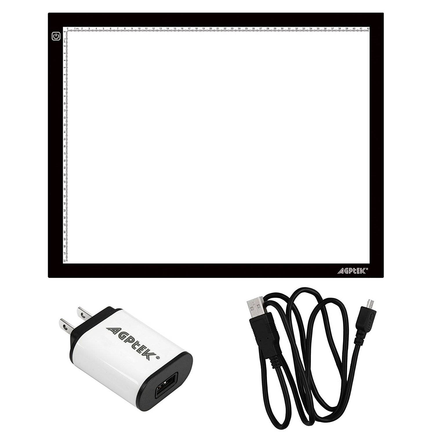 A3 Light Box, AGPtek 14.6X18.5 Inch LED Artcraft Tracing Light Pad A3 Light Box Ultra-thin USB Power Cable Dimmable Brightness Tatoo Pad Aniamtion, Sketching, Designing, Stencilling