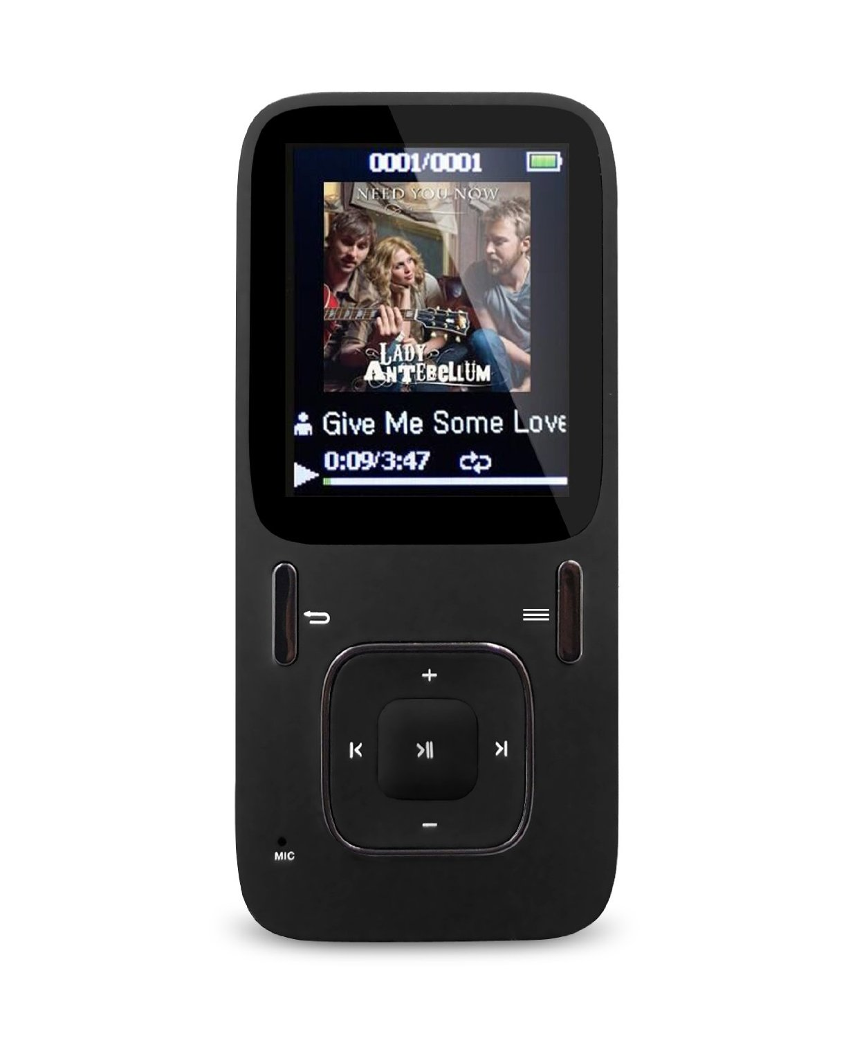 AGPtEK B03 Hi-Fi 8GB MP3 Music Player, Updated Version of A02 Mp3 Player, Supports up to 64GB Micro SD Card (Black)