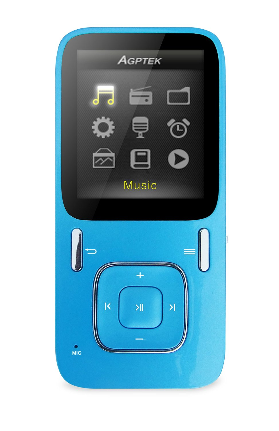 AGPtEK B03 Hi-Fi 8GB MP3 Music Player, 40 Hours Playback, Updated Version of A02 Mp3 Player, Supports up to 64GB Micro SD Card (Blue)