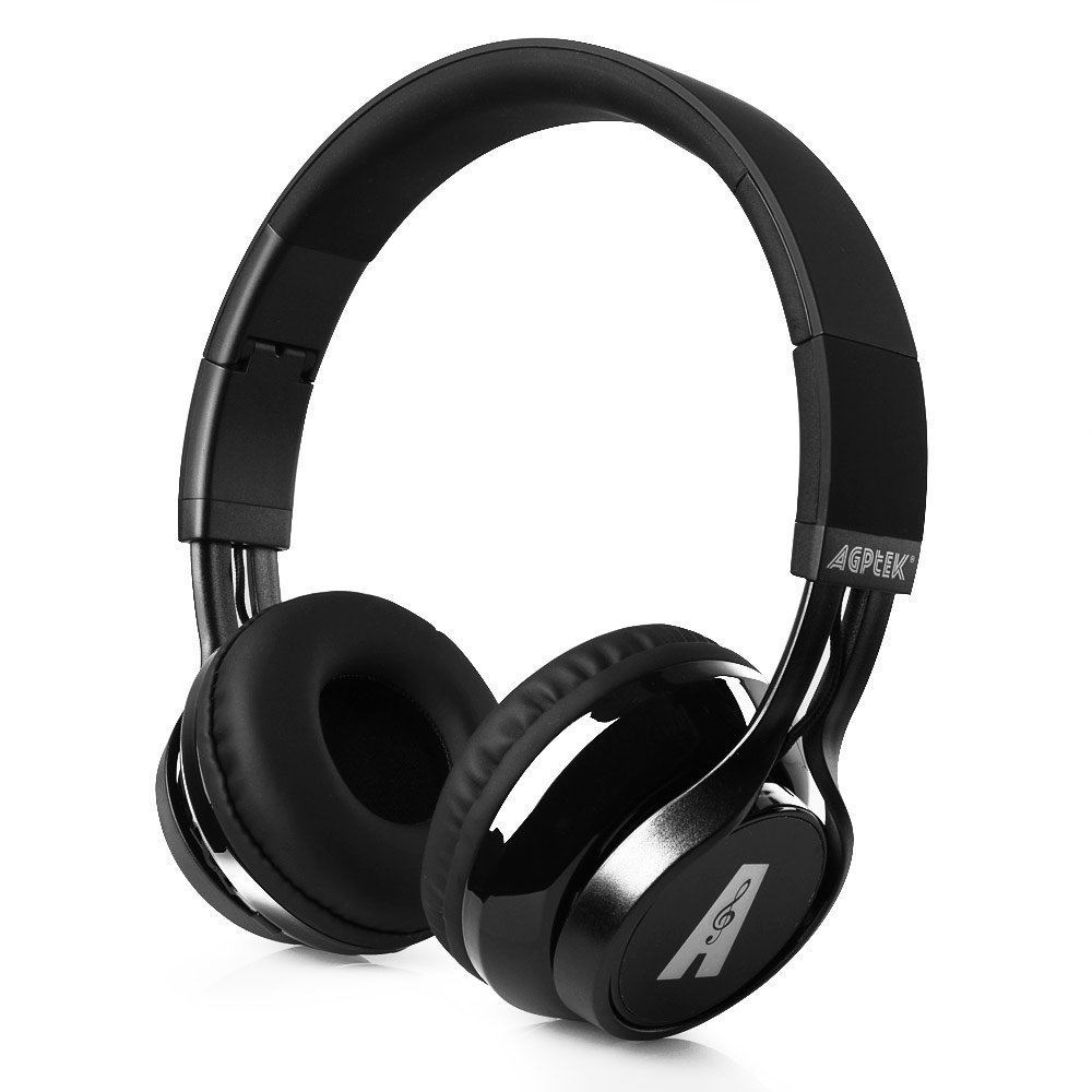 AGPtEK Wireless Foldable Bluetooth Over Ear Headphones with Microphone, High-fidelity Stereo HD Sound for Smartphones, Tablets and PC