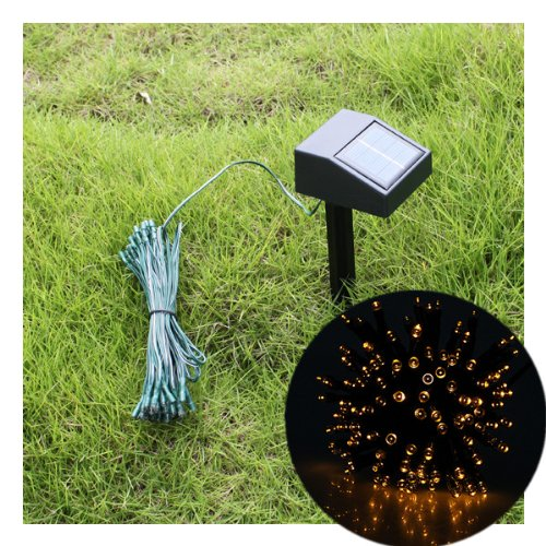 55ft 100 LED Solar String Yellow Lights Outdoor Garden Xmas