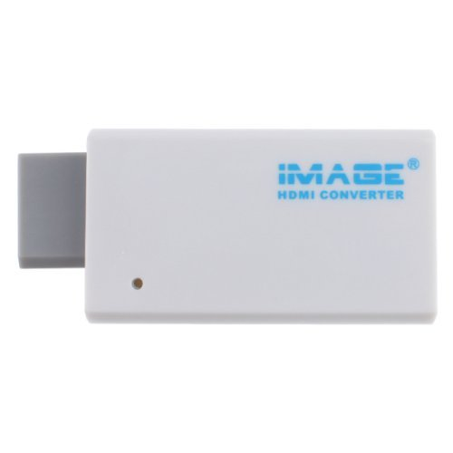 IMAGE Wii to 720p or 1080p Full Digital HDMI Upscaling Adapter Converter Supports All Wii Display Modes (NTSC 480i 480p, PAL 576i)