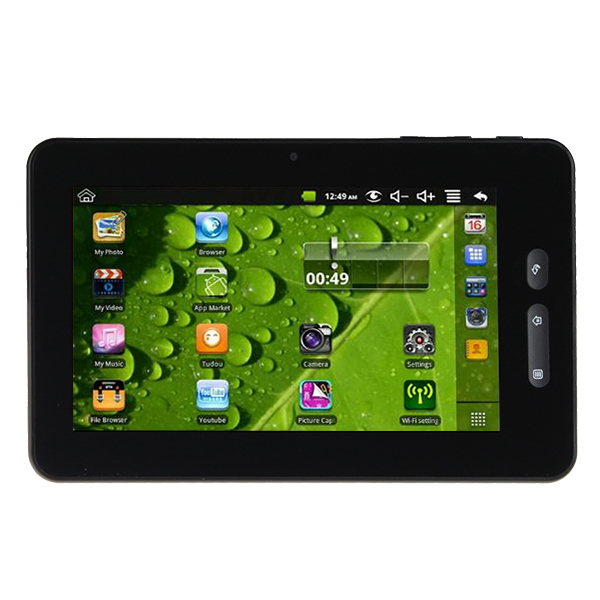AGPtek 7 inch Android 4.0 OS Cortex A8 Capacitive Touch Screen Wi-Fi G-sensor Tablet PC built in 4GB  Capacity