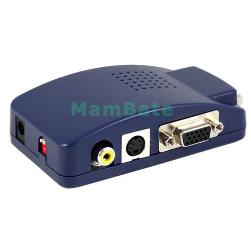 Lcd Projector Pc Av Tv Vga Usb Hdmi Hd 1080p Home Theater: USB PC MAC VGA To AV TV Projector RCA S-Video Converter