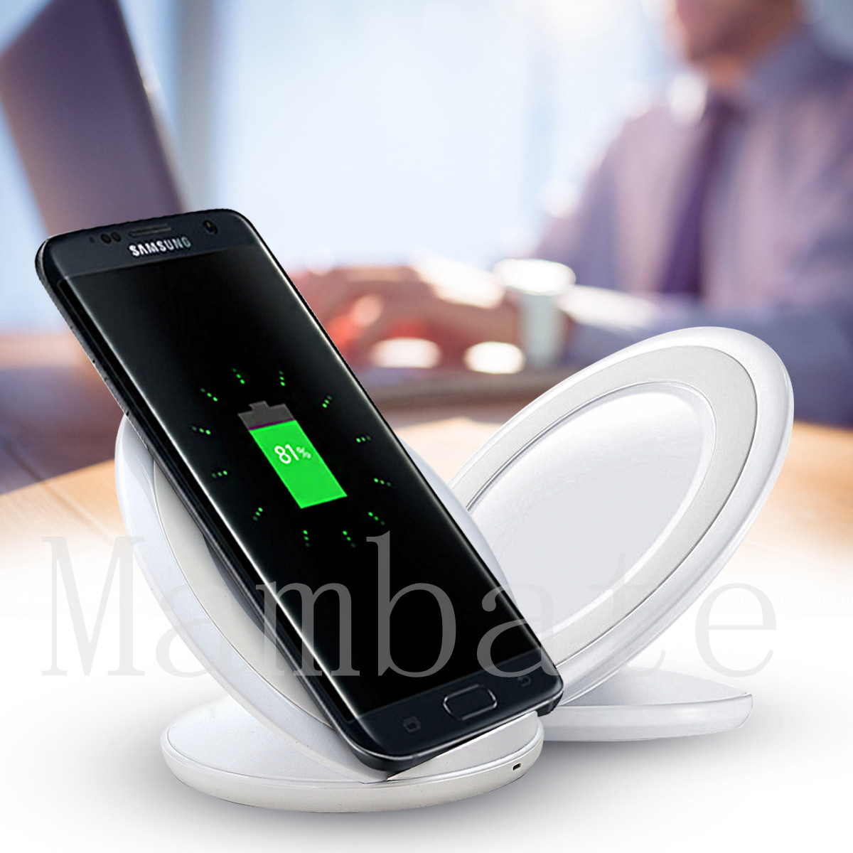 fast qi wireless charger charging pad dock for samsung. Black Bedroom Furniture Sets. Home Design Ideas