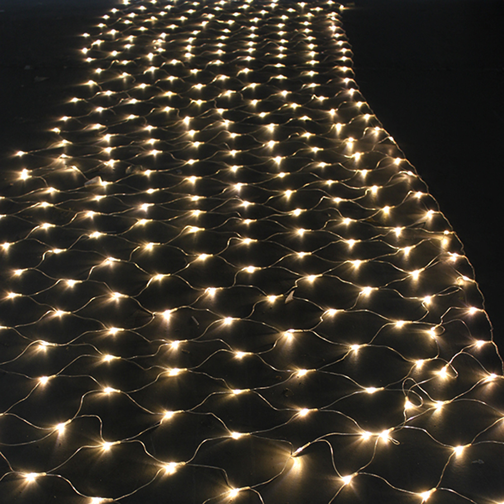 String Of Christmas Lights Image : 300 LED Net Mesh Fairy String Light Christmas Lights Lighting Party Wedding Xmas eBay