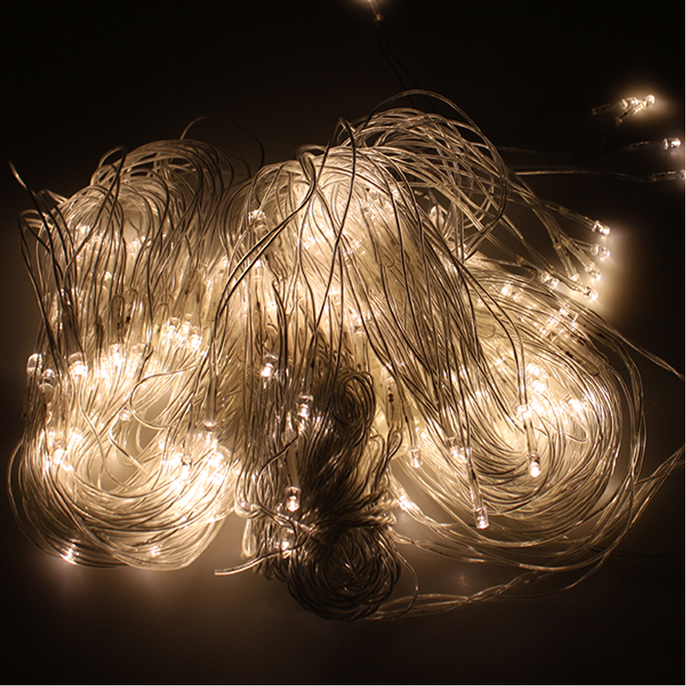 300 LED Net Mesh Fairy String Light Christmas Lights Lighting Party Wedding Xmas eBay