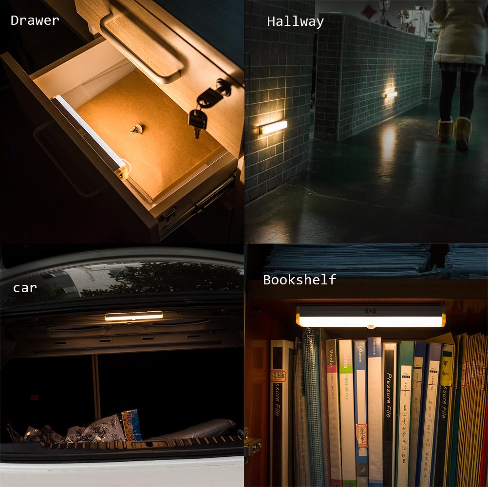 Kitchen Closet Under Cabinet Stick On 18 Led Motion Sensor