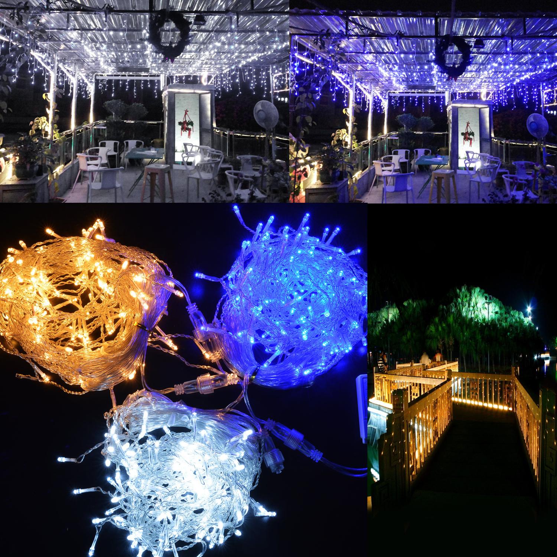 Curtain Icicle Lights String Fairy Light : 150/300/600/750 LED Icicle Fairy String Curtain Light for New Year Christmas New eBay