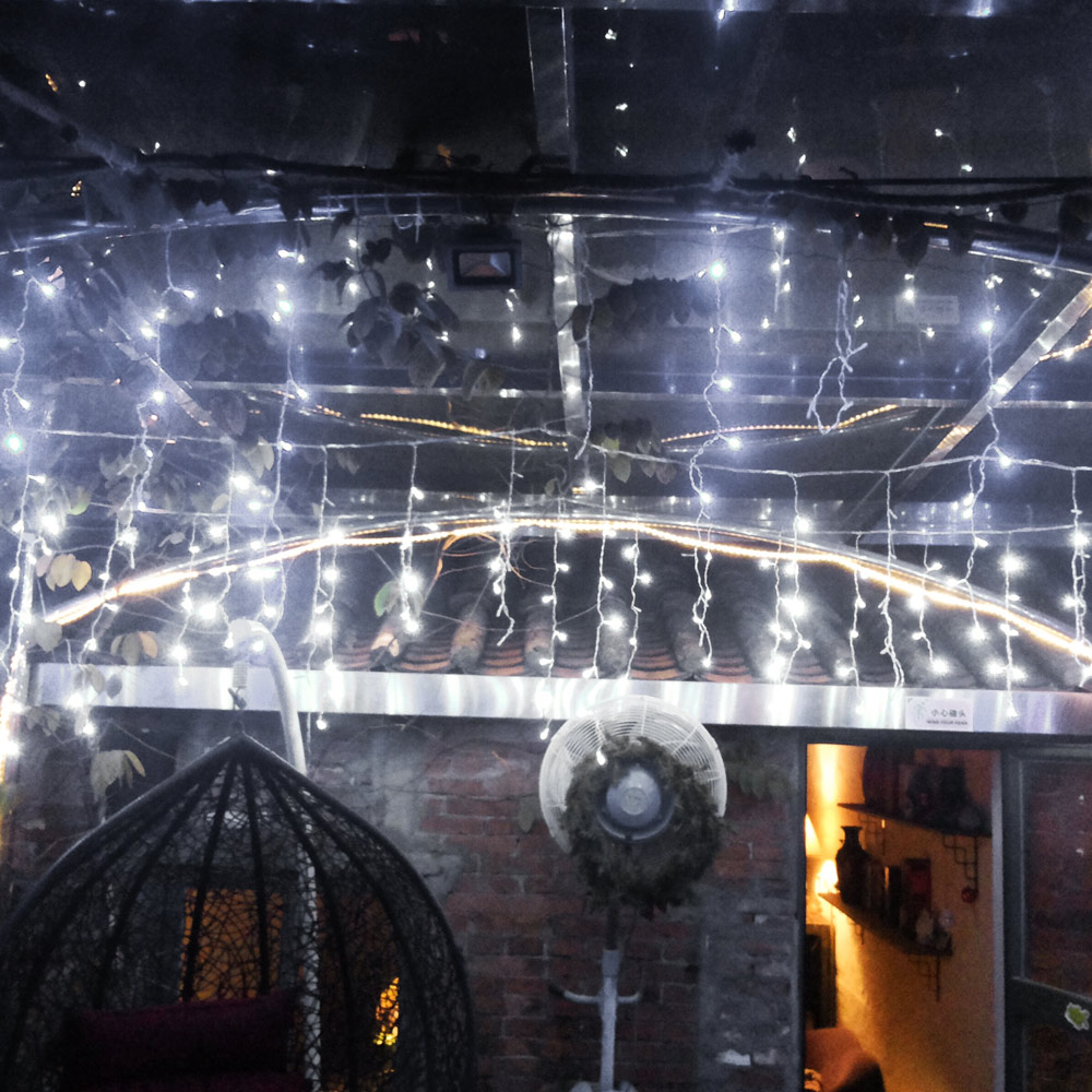 Curtain Icicle Lights String Fairy Light : 150/300/600/750 LED Icicle Fairy String Curtain Light for New Year Christmas New eBay