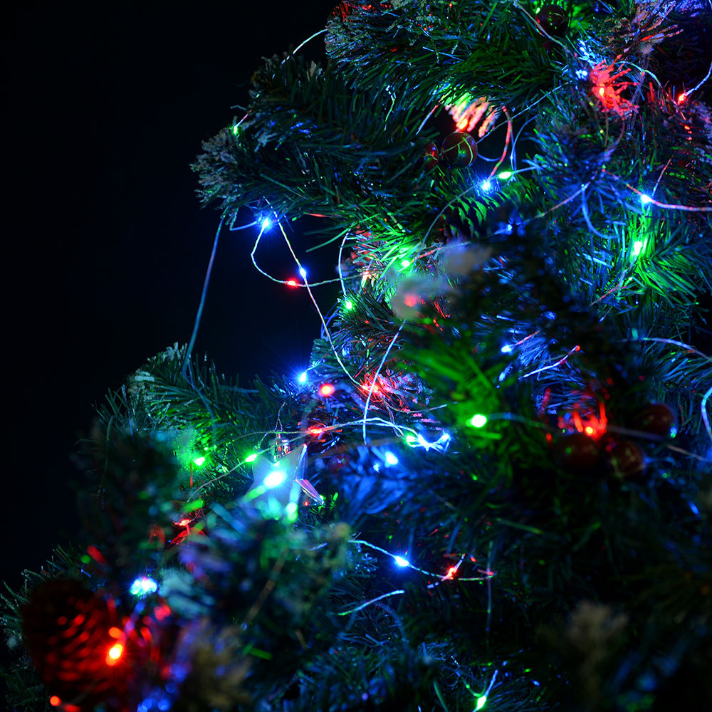 33FT Multi-color RGB LED String Light Copper Wire Starry Light Christmas Wedding eBay