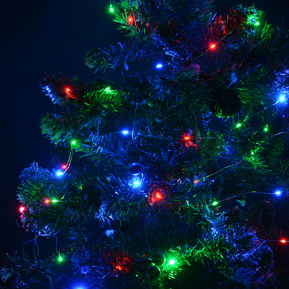 33FT Multi-color RGB LED String Light Copper Wire Starry Light Christmas Wedding eBay
