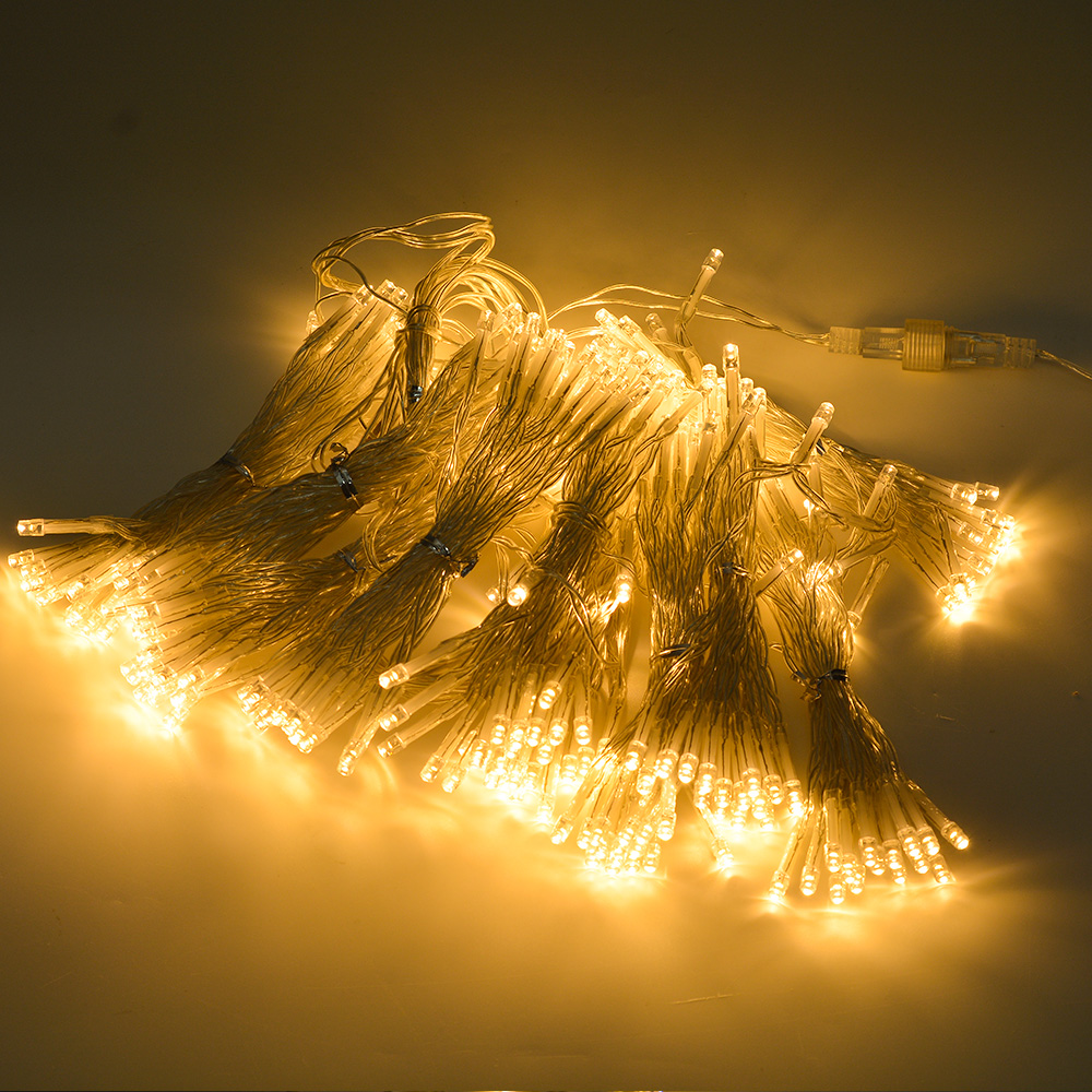 Solar Curtain String Lights : 300 LED Solar Powered Fairy String Curtain Light Lamp Outdoor Garden Xmas Party eBay