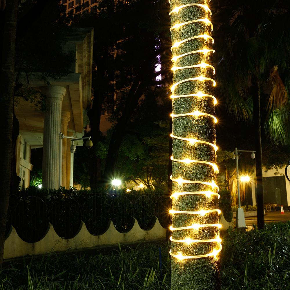 Outside Lights That Don T Need Electricity: 50/100LED Fairy String Rope Light Solar Power Controller