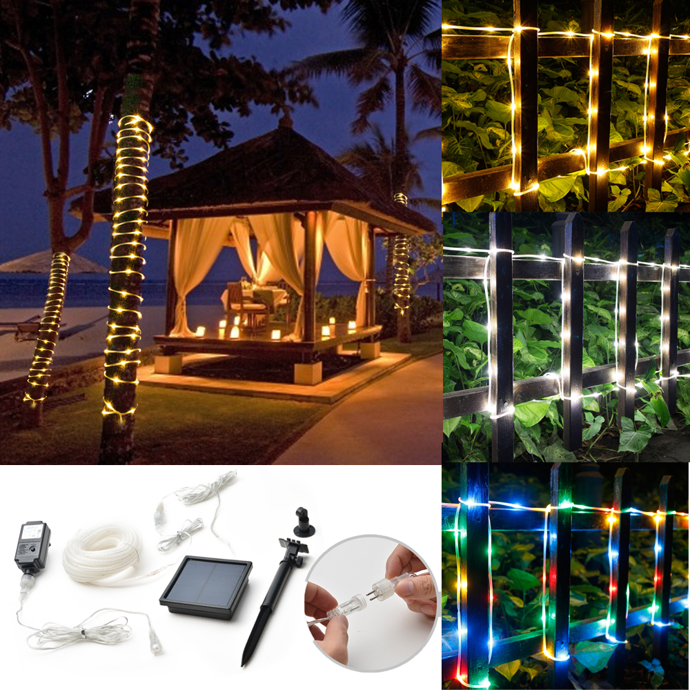 fairy string rope light solar power controller waterproof outdoor xmas