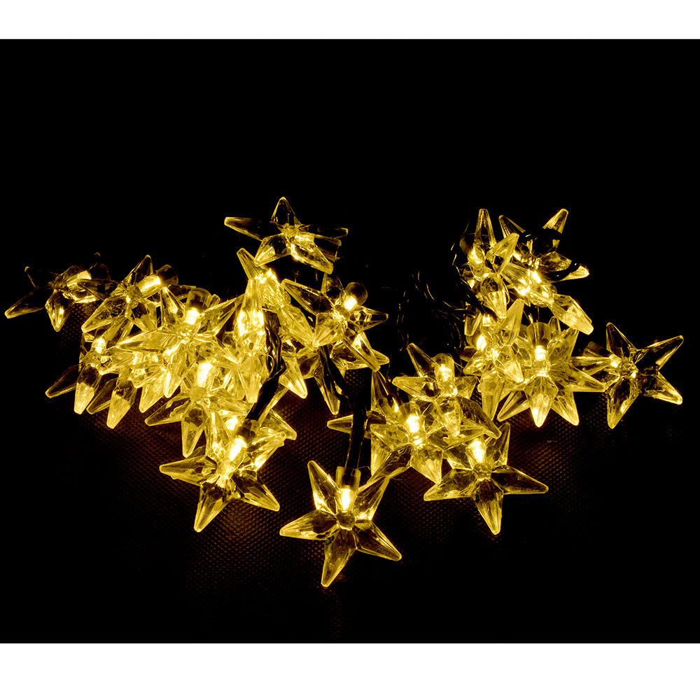 Star String Lights Outdoor : 20/30LED Star Solar Powered Outdoor String Light Waterproof Garden Party Wedding eBay