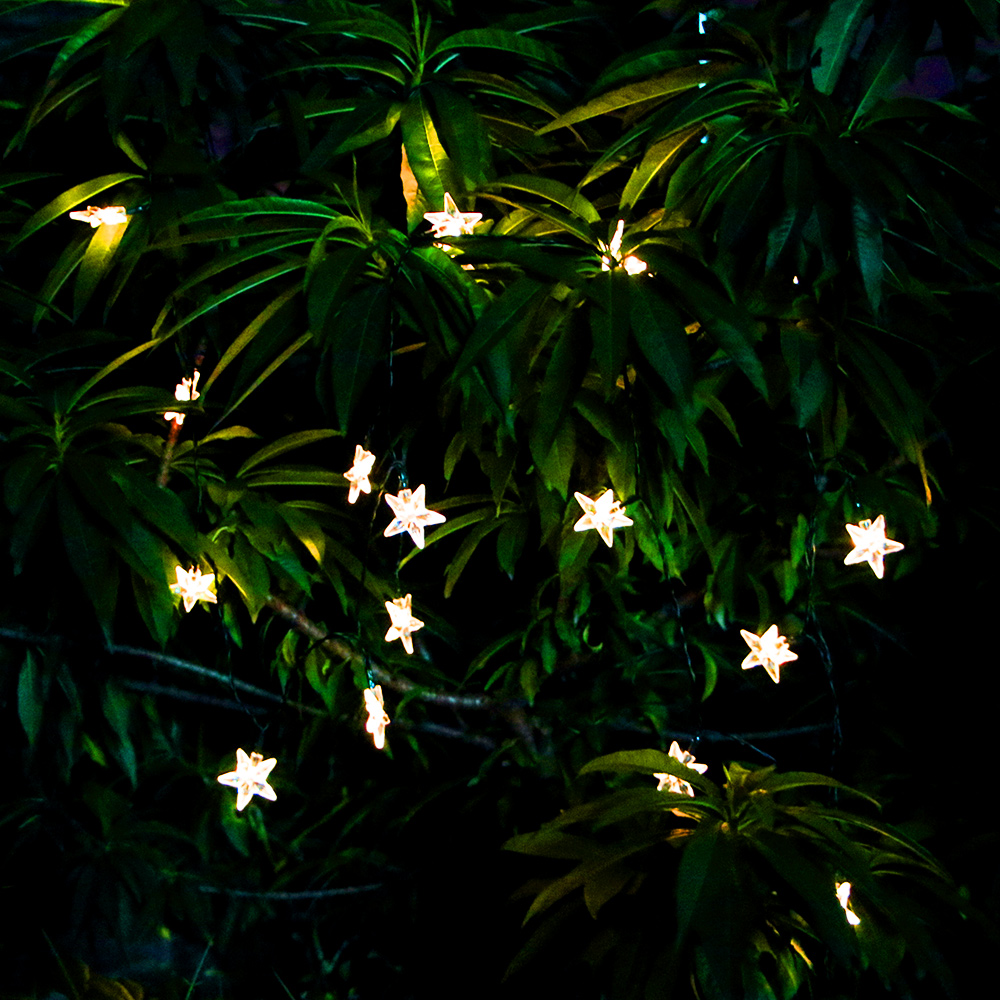 Star String Lights Outdoor : 30 LED Solar Star Powered Outdoor String Lights Waterproof Garden Party Wedding eBay