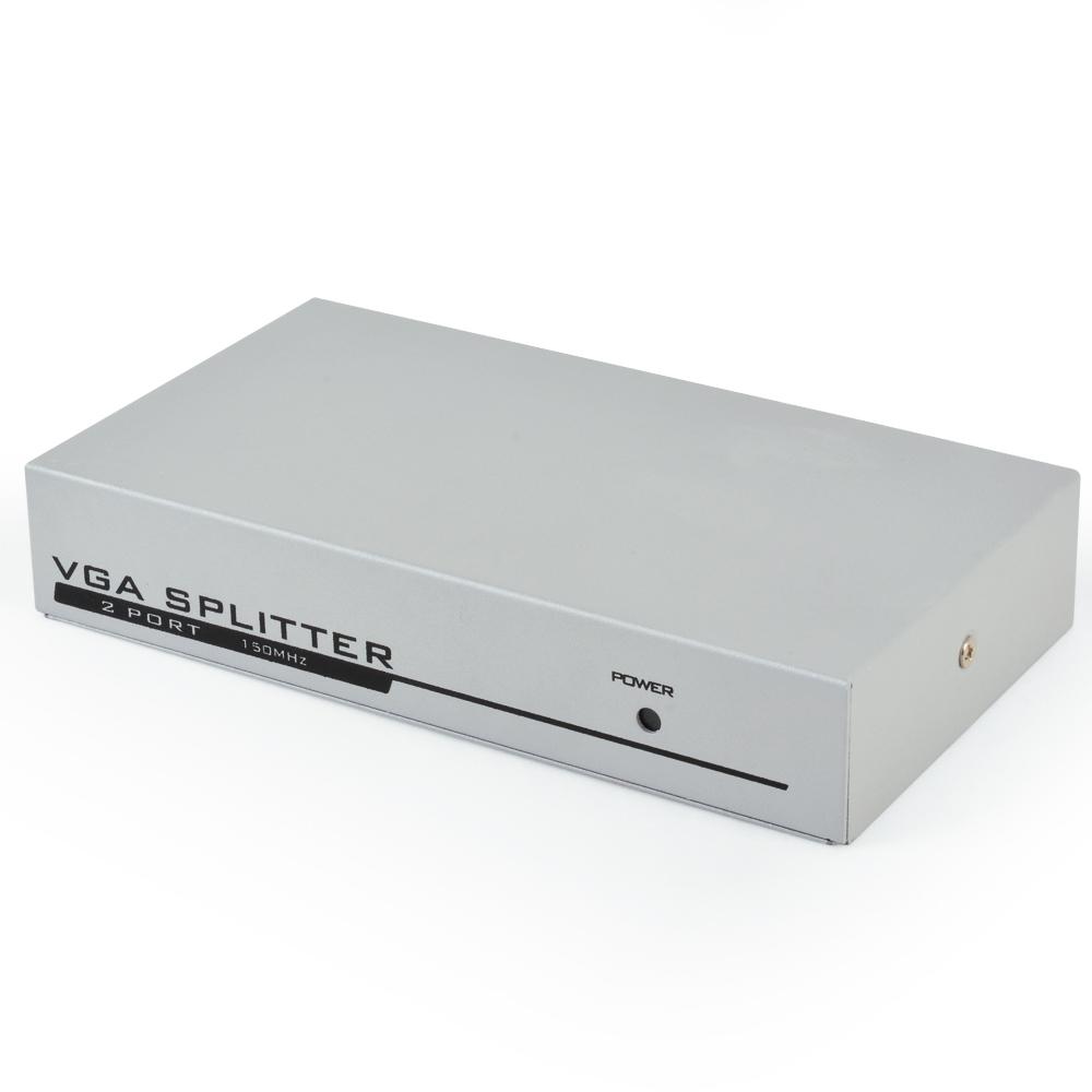 2 Port 1 PC To 2 Monitors TV VGA SVGA XGA Video Switcher
