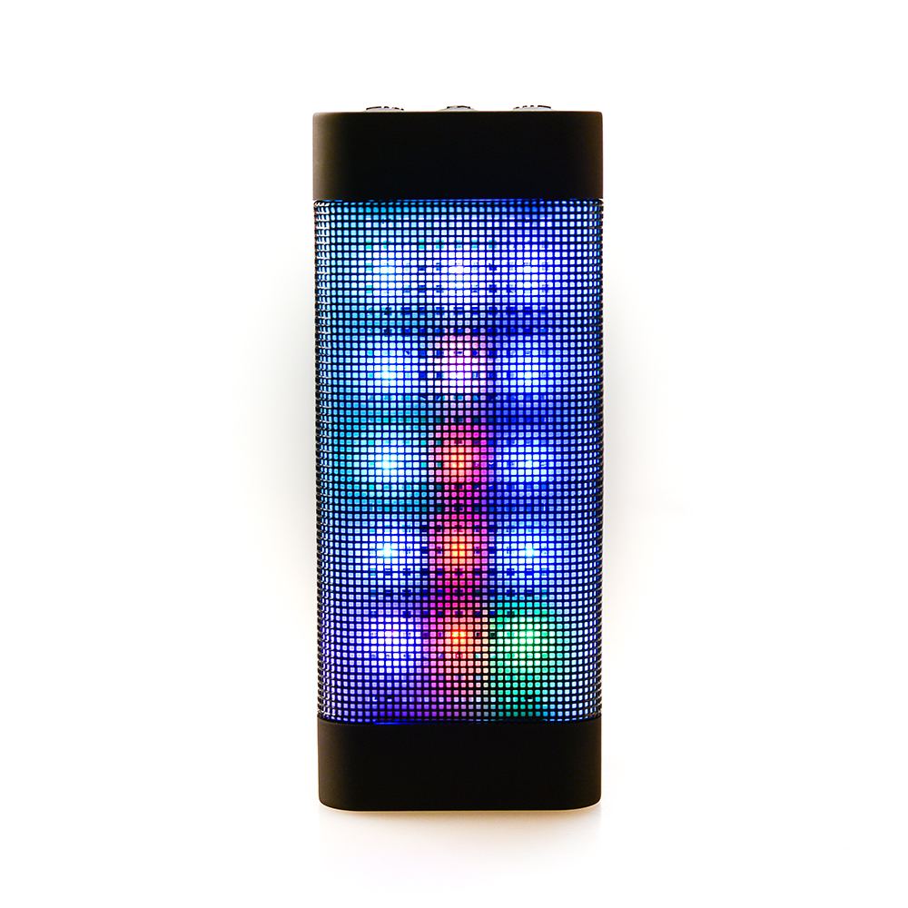 New Portable PULSE LED Light Stereo Wireless Bluetooth Speaker With FM For Party