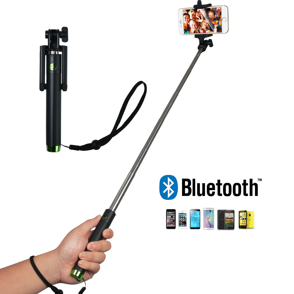 self portrait monopod extendable selfie stick with bluetooth remote shutter ebay. Black Bedroom Furniture Sets. Home Design Ideas