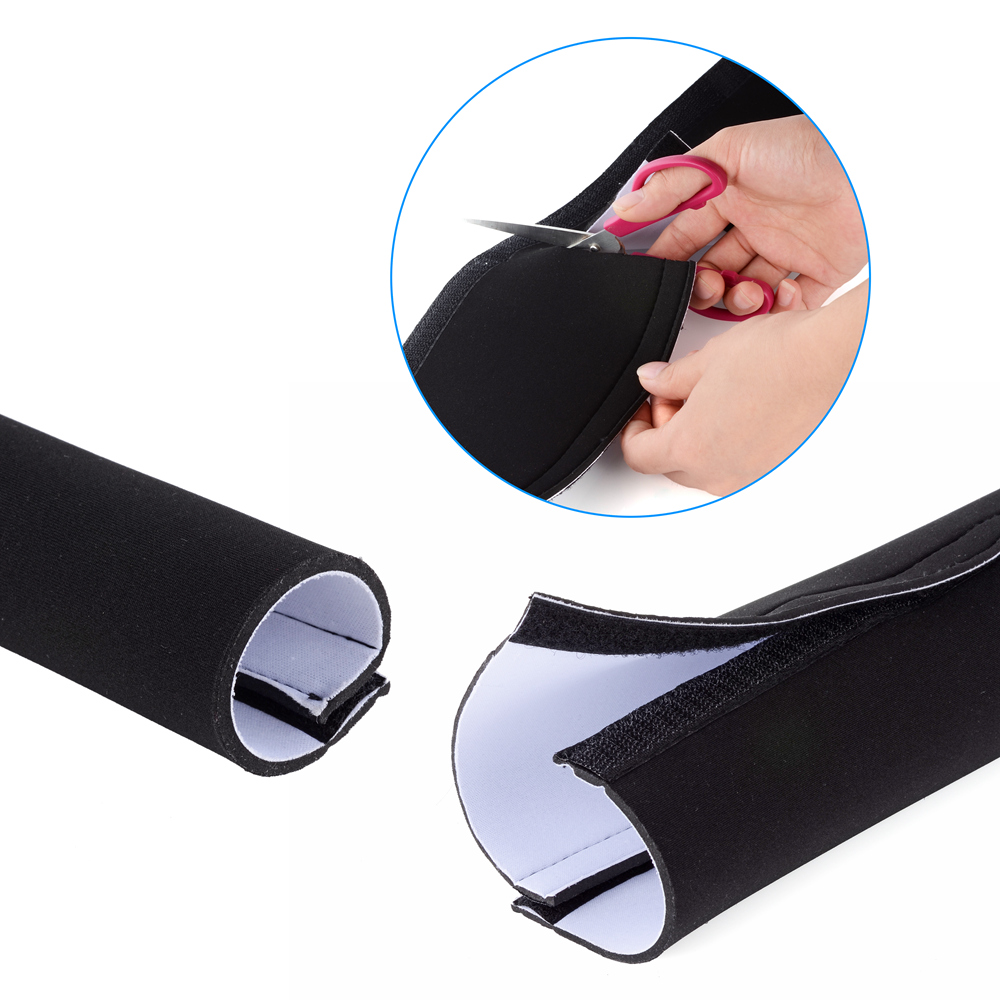 60 neoprene cable management sleeve wrap wire cord hider cover organizer system. Black Bedroom Furniture Sets. Home Design Ideas