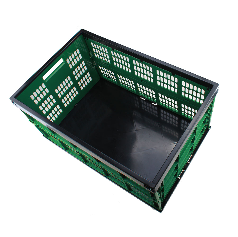 23 15 12 collapsible plastic storage crate fold flat. Black Bedroom Furniture Sets. Home Design Ideas