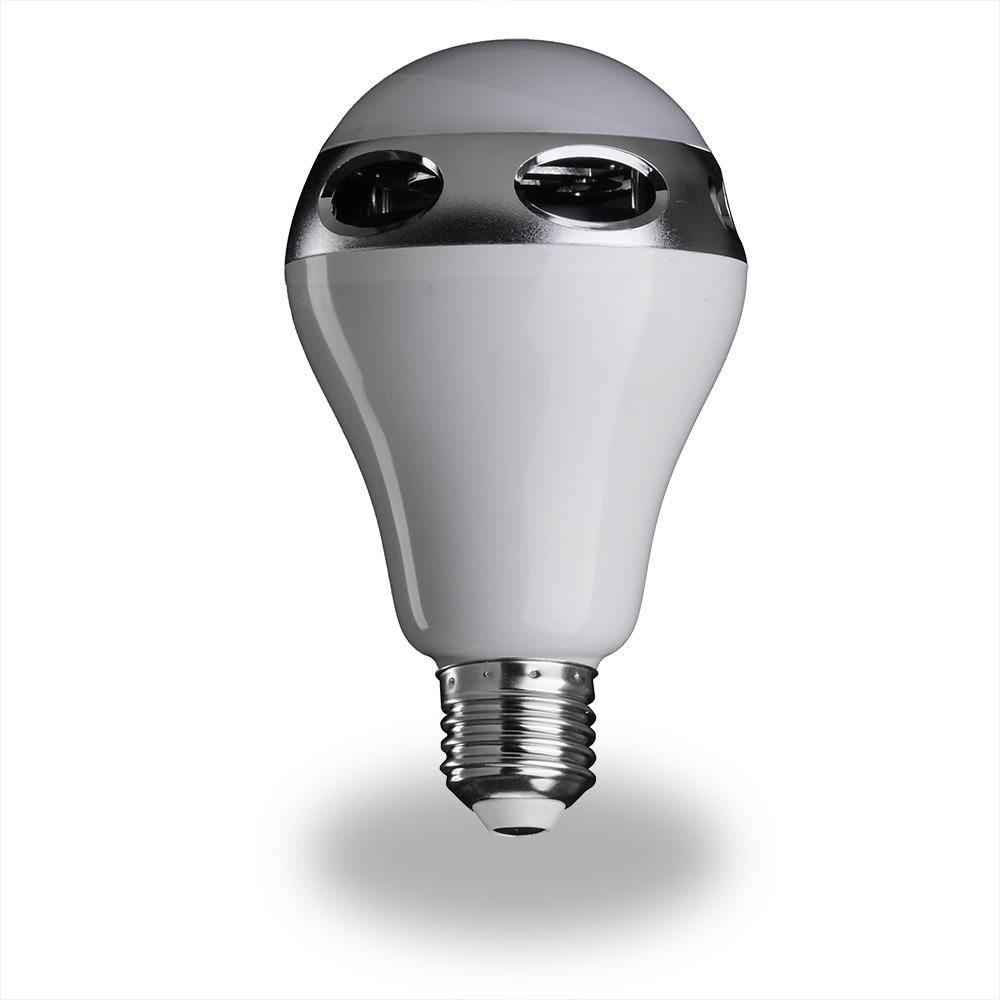 Bluetooth control music audio speaker led rgb color bulb for Bluetooth controlled light bulb