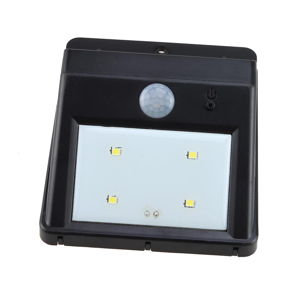 4 led solar power motion sensor garden security lamp. Black Bedroom Furniture Sets. Home Design Ideas