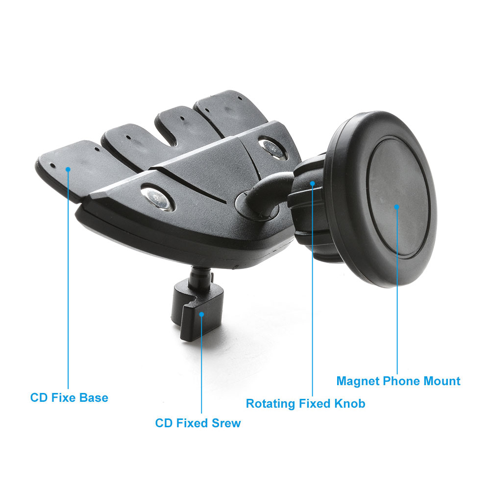 360 magnetic car mount holder slot cradle for iphone cell phone gps universal ebay. Black Bedroom Furniture Sets. Home Design Ideas