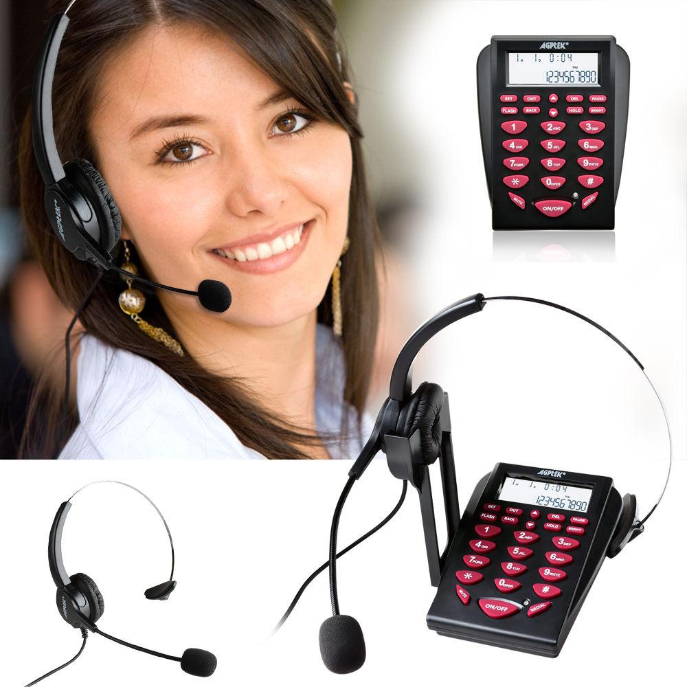 hands free call center noise cancellation corded monaural headset telephone ebay. Black Bedroom Furniture Sets. Home Design Ideas