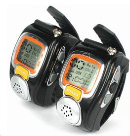 Get 2pcs Two Way Radio Walkie Talkie Spy Wrist Digital Watch