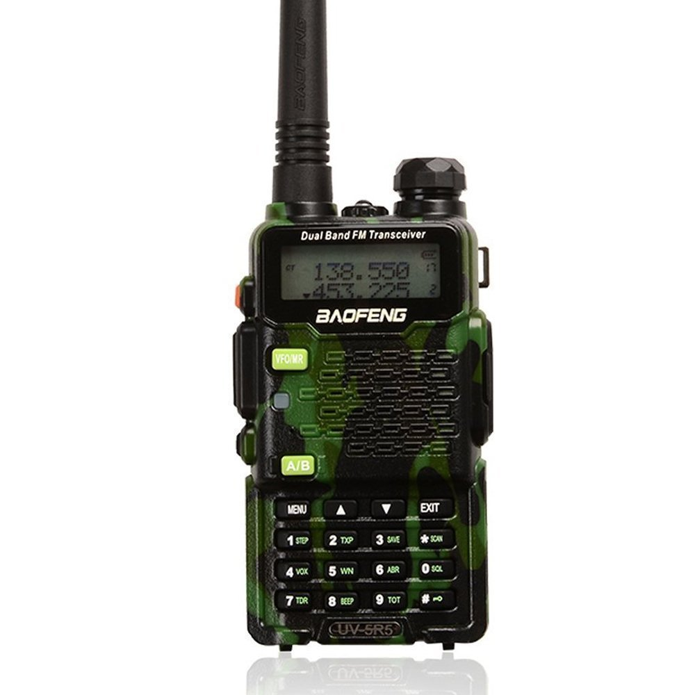 2015 Version Baofeng Walkie Talkie UV-5R5 5W Dual-Band Two-Way Ham Radio Transceiver UHF/VHF 136-174/400-520MHz,65-108MHz FM Two-Way Radio - With Upgrade Version Earpiece,Built-in VOX Function,Battery,Charger - Combo, 1 PCS