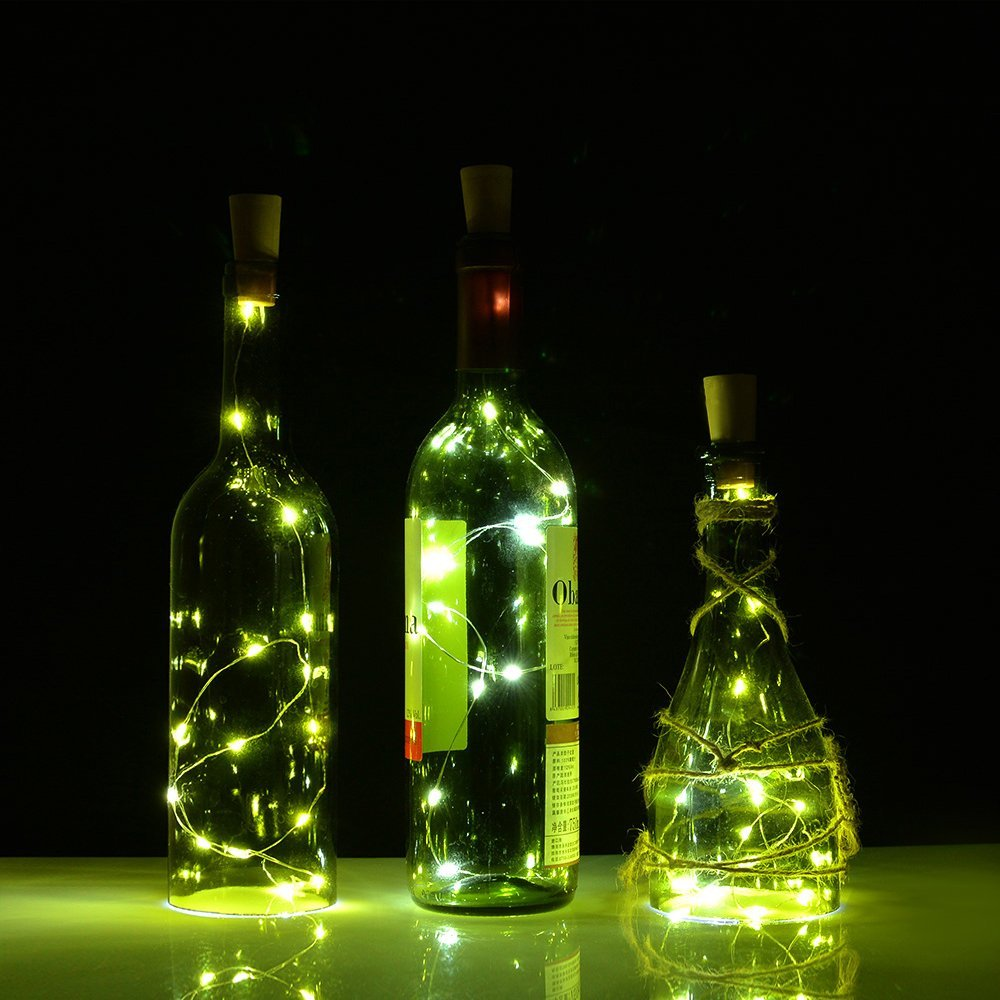Cork Bottle Lights For Wine Bottles 3 Pack Agptek 3pcs