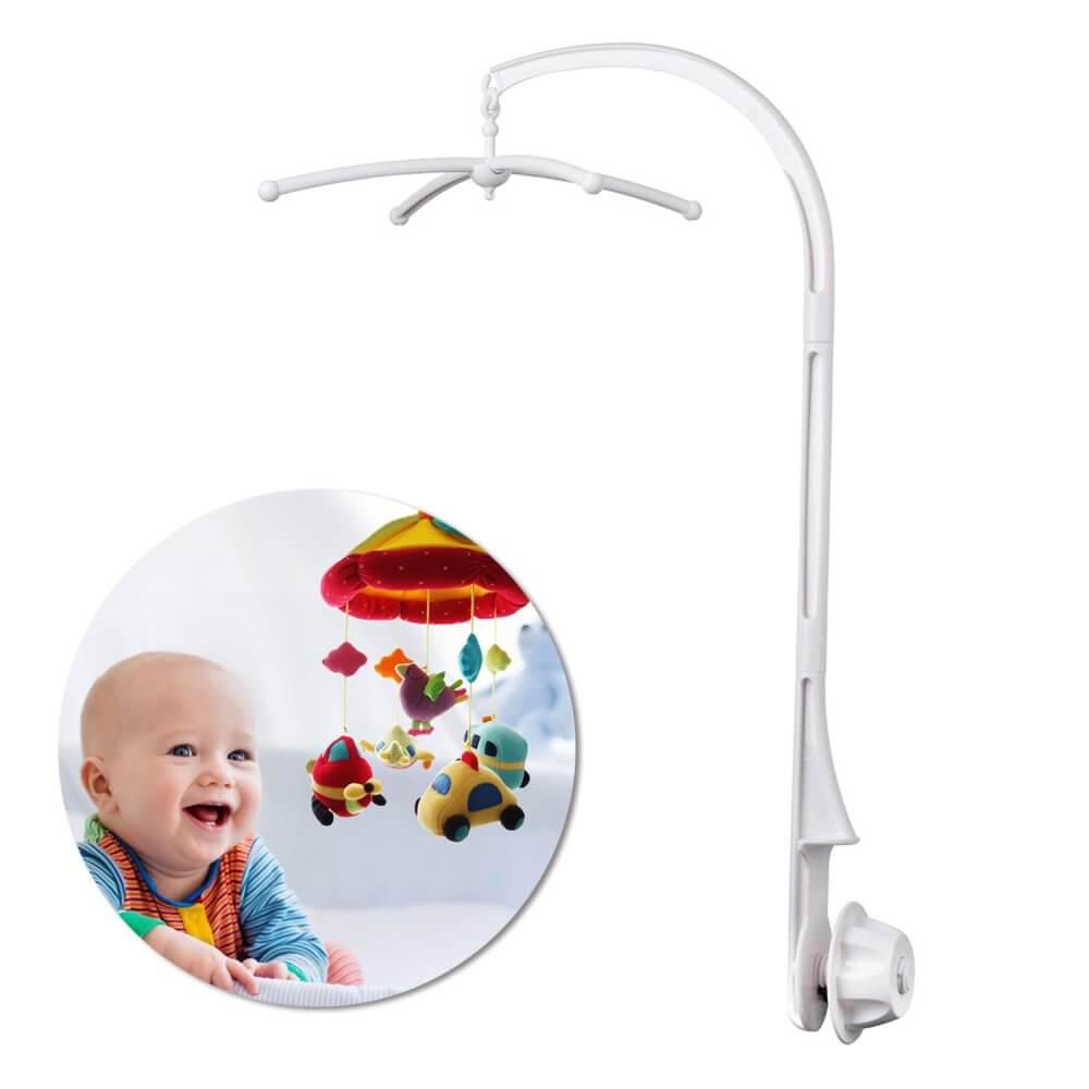 Nut Screw 26 Hegiht AGPtek 26 inch Baby Crib Mobile Bed Bell Holder Music Box Holder Arm Bracket Baby Bed Stent Set