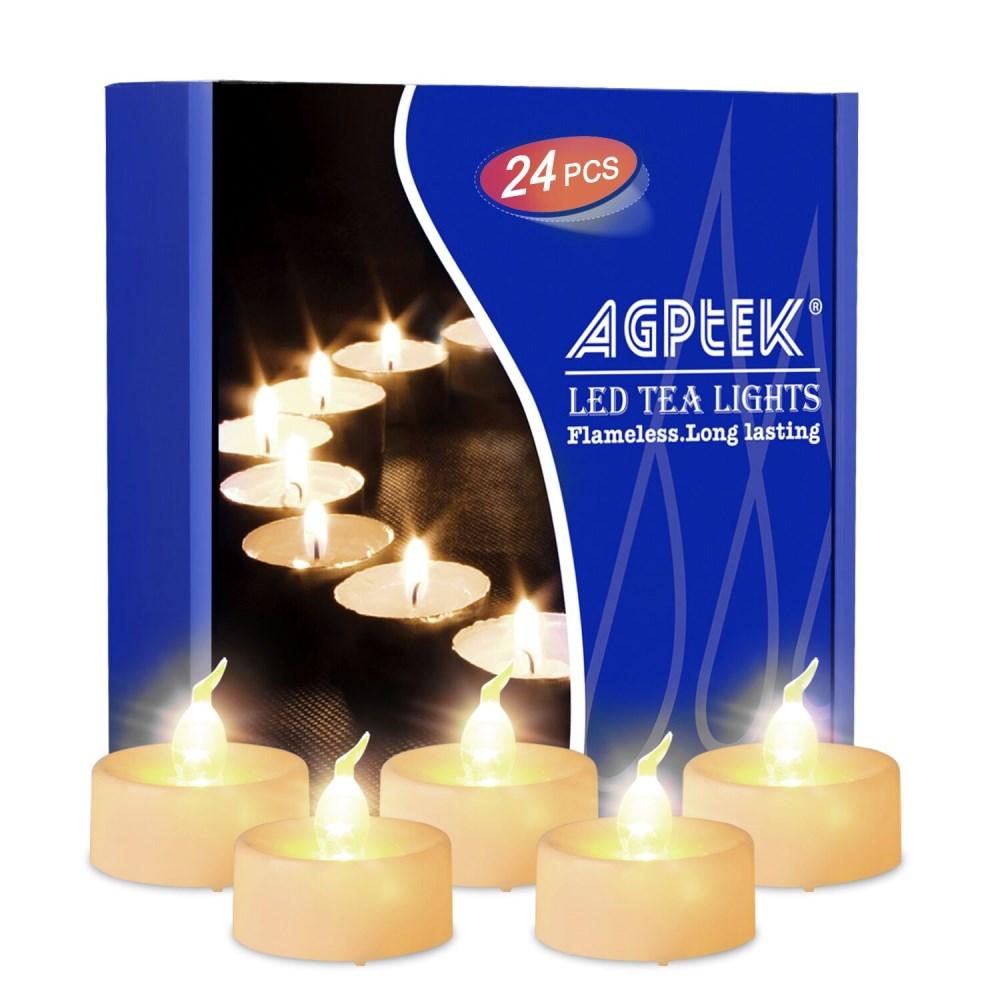 Agptek Timer Flickering Led Tealights Candles Battery