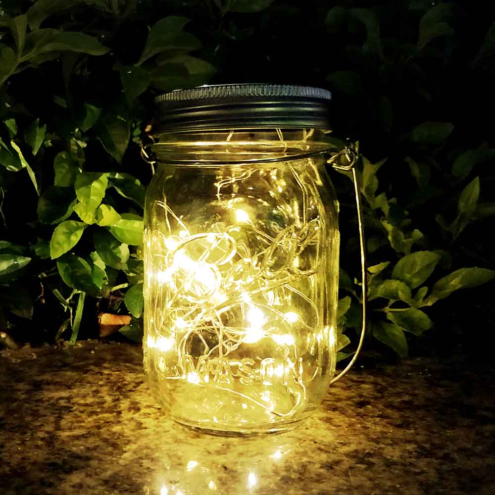 Solar Mason Jar Light Waterproof Led