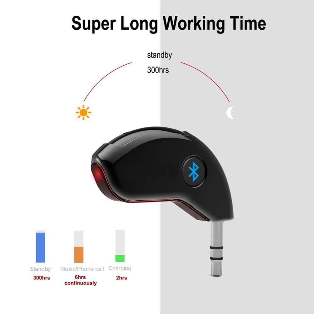AGPtek Protable Car Aux Bluetooth Adapter Hands free Audio Adapter ...