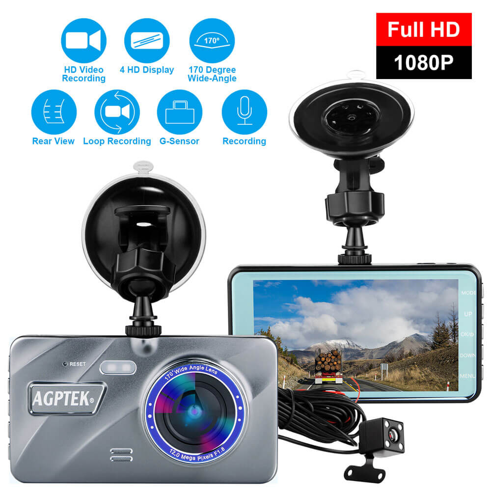"4/""Vehicle HD 1080P Car Dashboard DVR Camera Video Recorder Dash Cam Night Vision"