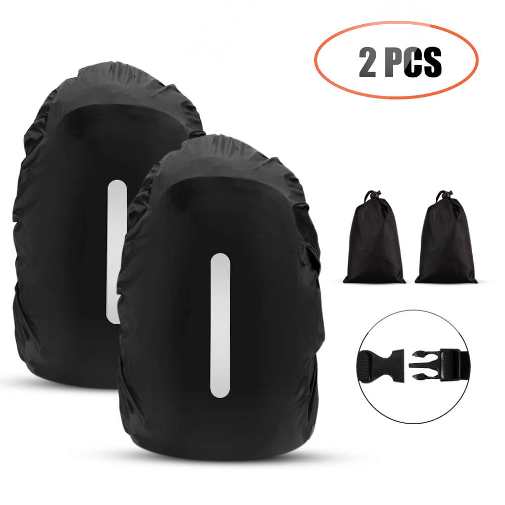 Waterproof Backpack Rain Cover with Reflective Strip for 40L-55L Backpack