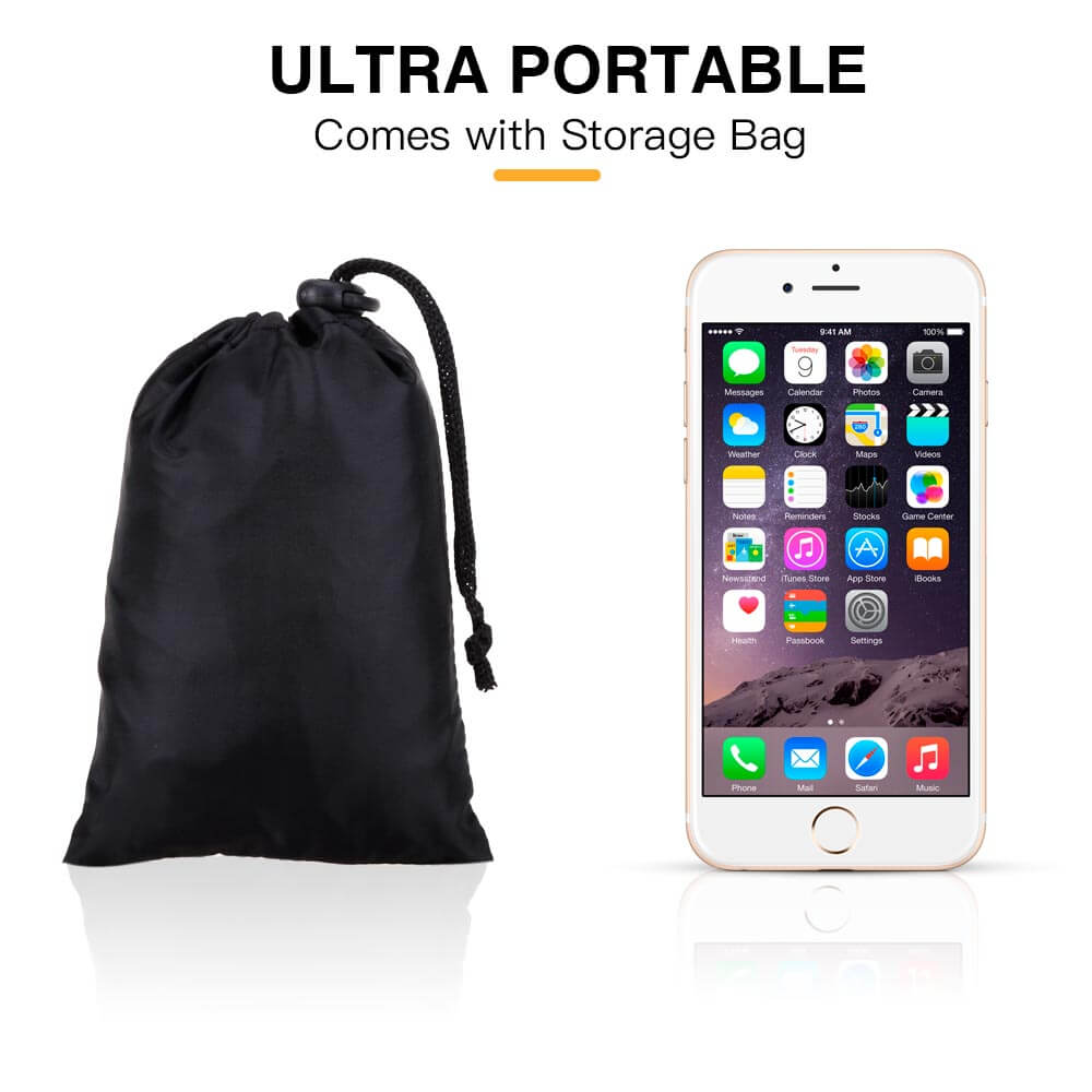 AGPTEK Waterproof Backpack Rain Cover Black Pack of 2 M Size