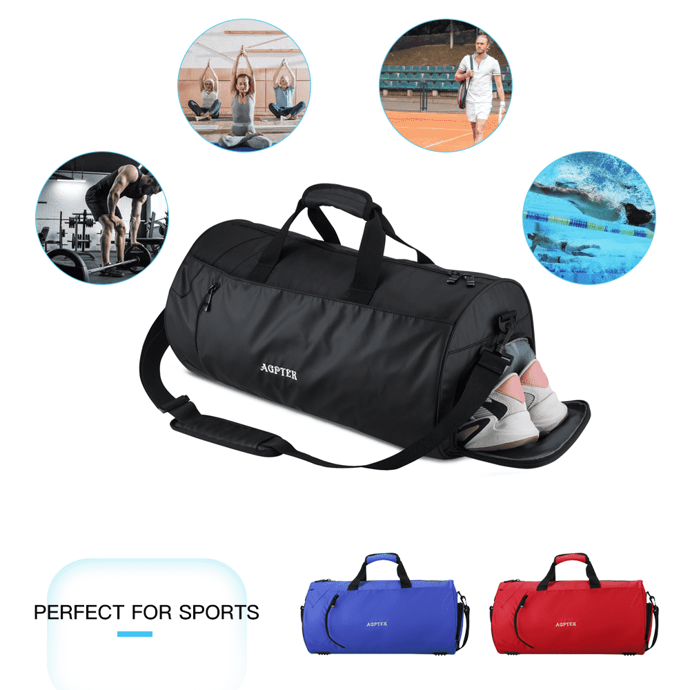 KARRESLY Sports Gym Bag for Women or Men Travel Duffel Bag with Wet Pocket and Shoes Compartment for Training Swim Yoga ArmyGreen